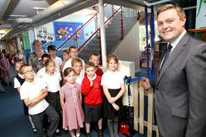 Will Quince attends opening of underwater themed school library