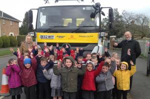 Alexander the Grit visits Silver End Primary School