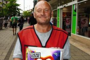 Tributes to Big Issue seller killed in freak burger accident